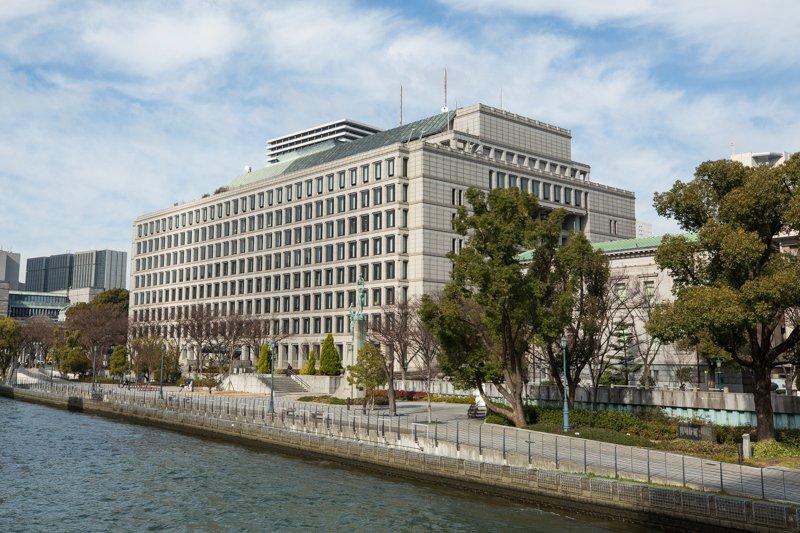 「大阪市役所」など公共施設が集まった