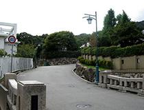 六甲山麓に広がる邸宅街、芦屋